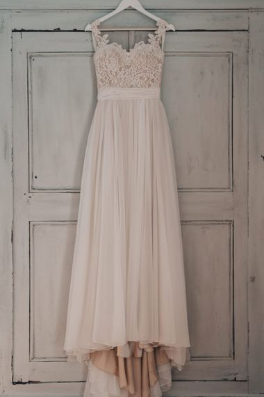 Stacey by Modeca Wedding Dress with Lace Bodice and Full Skirt