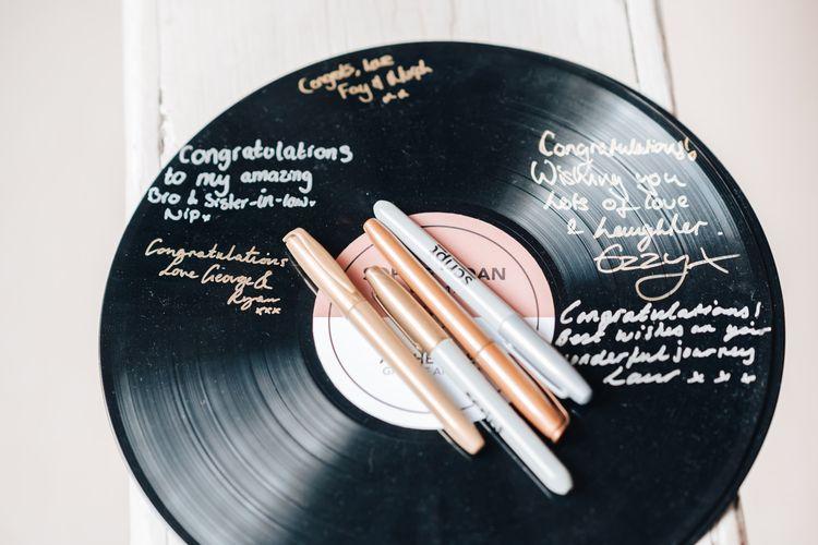 Vinyl Wedding Guest Book