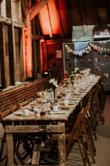 Tabelscape   Gold, Grey & Green Rustic Wedding at The Gilbert White's 16th Century Hampshire Barn   Joasis Photography