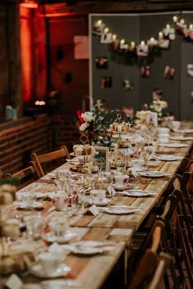 Tablescape   Gold, Grey & Green Rustic Wedding at The Gilbert White's 16th Century Hampshire Barn   Joasis Photography