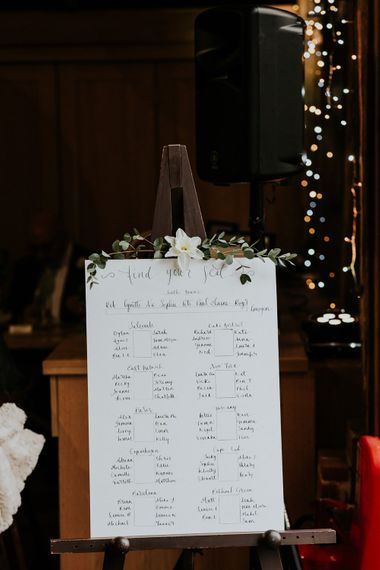 Table Plan   Gold, Grey & Green Rustic Wedding at The Gilbert White's 16th Century Hampshire Barn   Joasis Photography