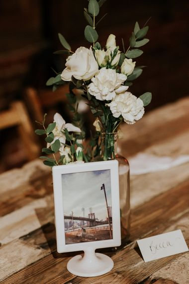 Flower Stems in Vases Wedding Decor   Gold, Grey & Green Rustic Wedding at The Gilbert White's 16th Century Hampshire Barn   Joasis Photography
