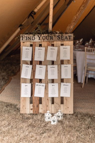 Find Your Seat Wooden Pallet Wedding Decor