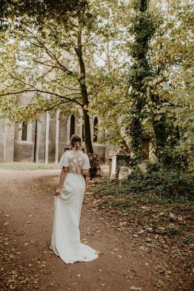 Bride in Story of My Dress Wedding Dress
