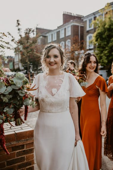 Bride in Story of My Dress Wedding Gown