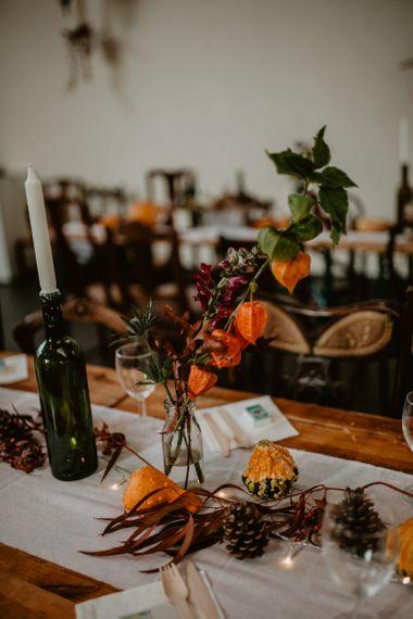 Orange Wedding Flower Centrepiece