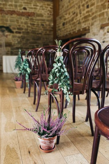 Plant Pot and Foliage Aisle and Chair Back Decor