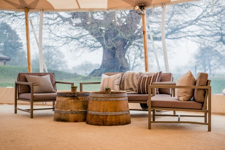 Seating Area For Sperry Tent Wedding With Romantic Meadow Inspired Styling