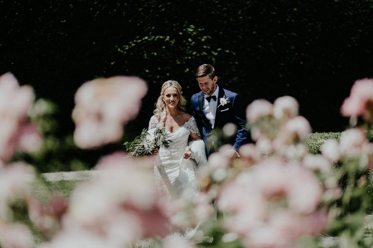 Bride In Long Sleeved Lace Wedding Dress // Image By Olivia Whitbread Roberts Fine Art Photography