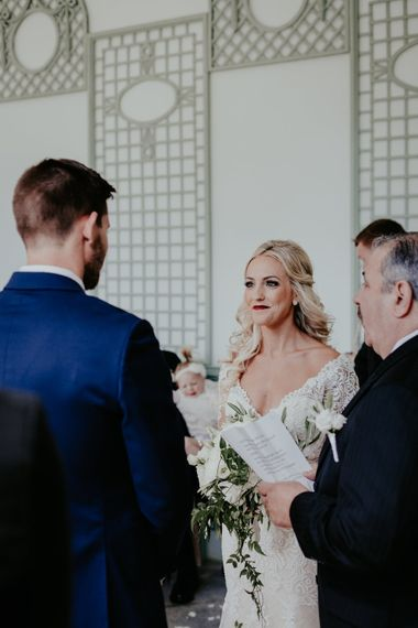 Wedding Ceremony In Orangery At Port Elliot // Image By Olivia Whitbread Roberts Fine Art Photography