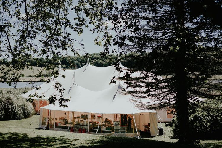 Sperry Tent For A Glamorous Wedding At Port Eliot Estate // Image By Olivia Whitbread Roberts Fine Art