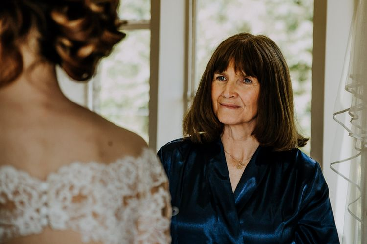 Mother Of The Bride Getting Ready // Burgundy Off The Shoulder Bridesmaids Dresses From ASOS For Rustic Wedding At Haughley Park With Images From Paul & Nanda