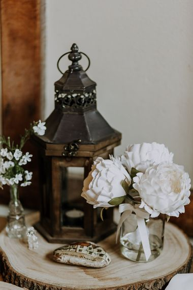 Rustic Wedding Decor // Burgundy Off The Shoulder Bridesmaids Dresses From ASOS For Rustic Wedding At Haughley Park With Images From Paul & Nanda