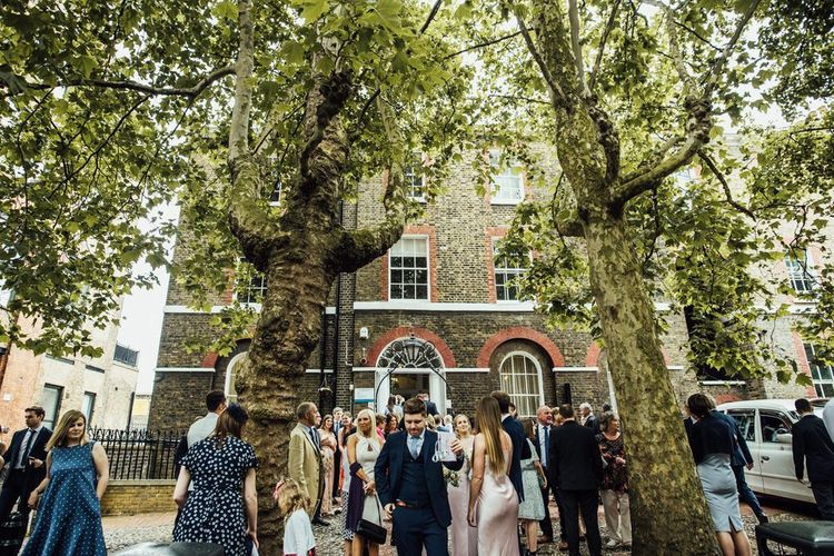 Guests at Registry Office Summer London City Wedding