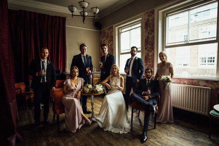 Wedding Party at Urban Summer City London Wedding with Manolo Blahnik Wedding Shoes