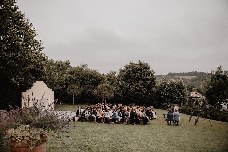 Outdoor wedding ceremony in France
