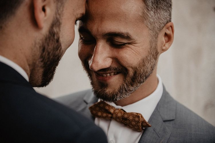Grooms bow ties for French wedding