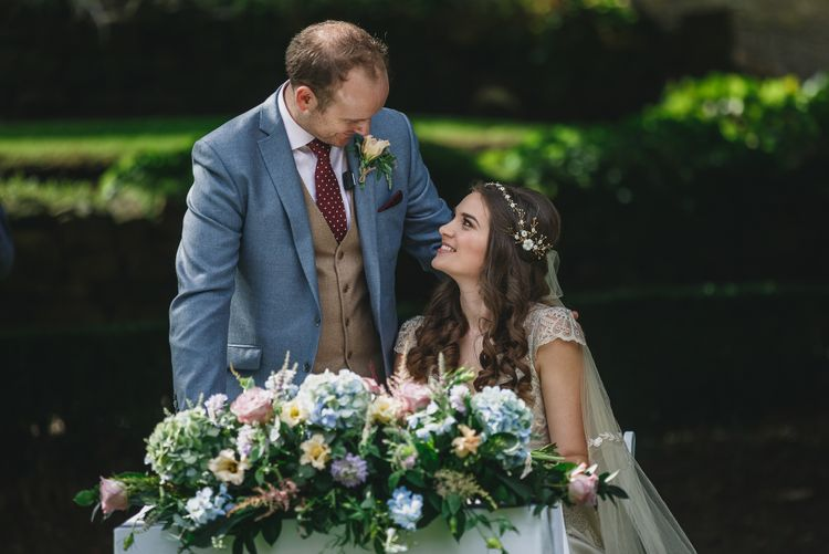 Claire Pettibone Dress For Bride // Choreographed First Dance For Wedding At Durham Castle Wedding With Classic Styling And Bride In Alexander McQueen Images From Stan Seaton