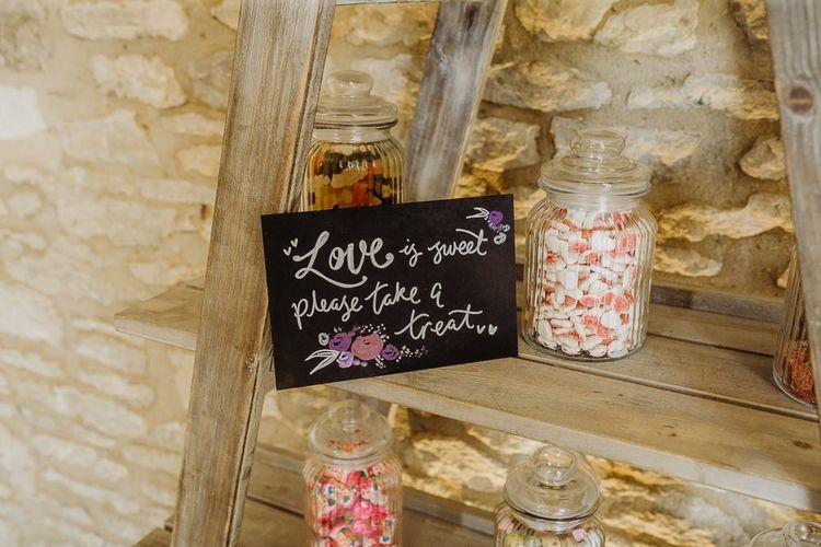 Sweet bar wedding sign