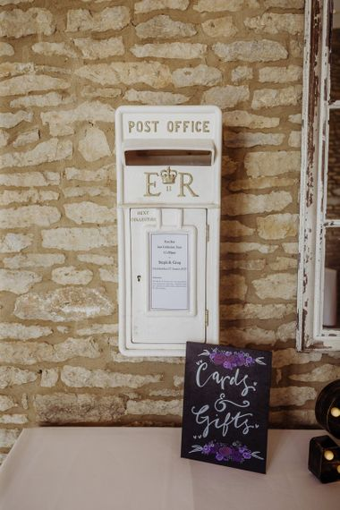 Card postbox in white at Caswell House