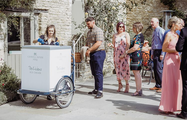 Ice cream cart at Caswell House