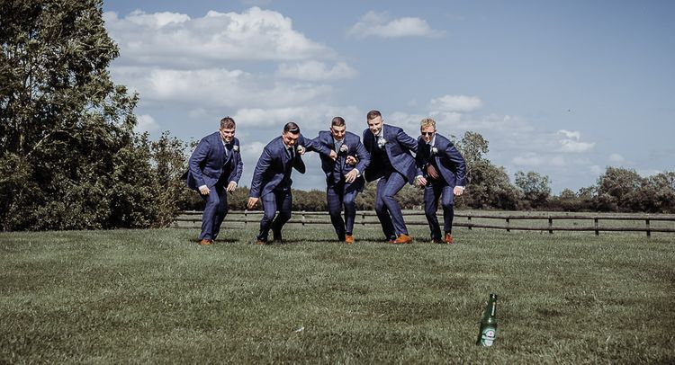 Groomsmen at Caswell House wedding