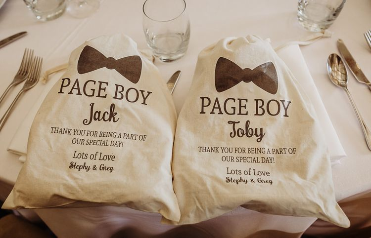 Personalised page boy bags