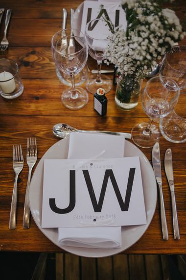 Race Tickets As Place Names // Stunning Simple Decor for Reception // Trestle Tables and Glassware // Images by Remain In Light