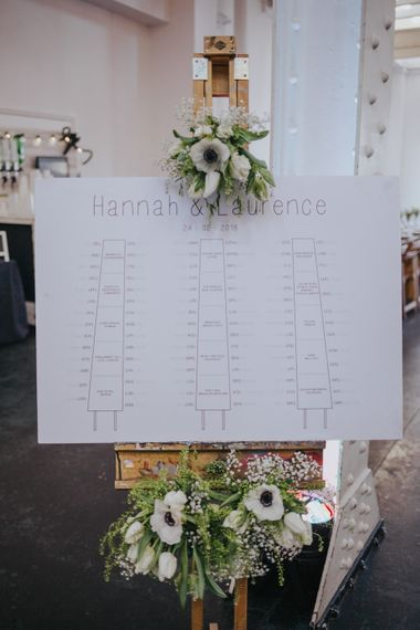 Table Plan // Stunning Simple Decor for Reception // Trestle Tables and Glassware // Images by Remain In Light
