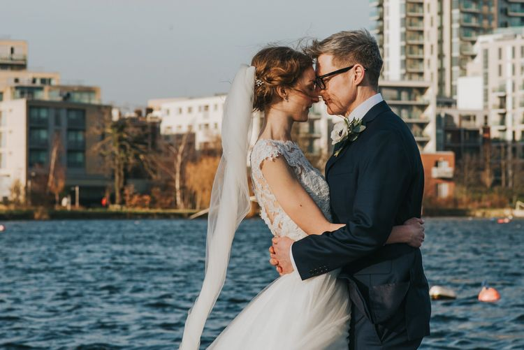 Winter Wedding at The West Reservoir Centre, Stoke Newington | Bride wears Maggie Sottero Dress | Bridesmaids in ASOS | Images by Remain In Light