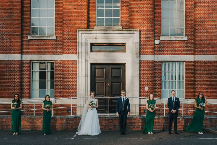 Bridal Party Outside The West Reservoir Centre, Stoke Newington // Images by Remain In Light