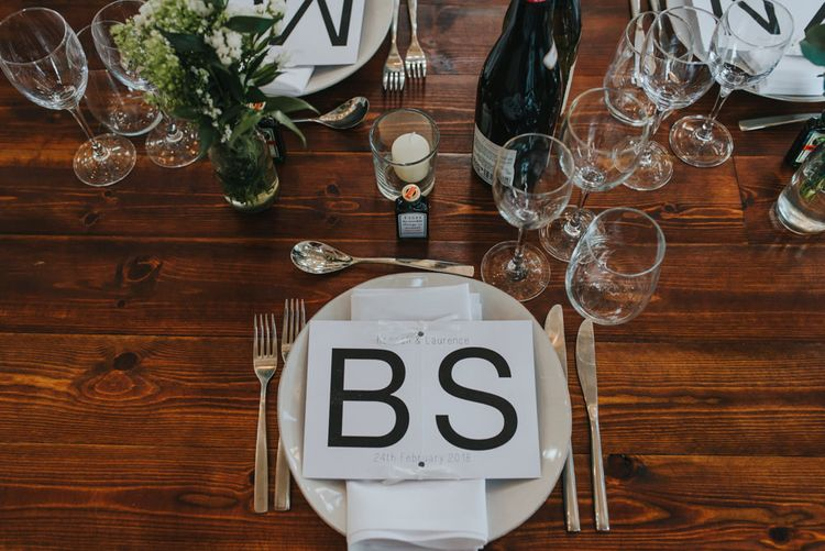 Table Decor Inspired By Bride and Grooms Love For Cycling // Images by Remain In Light