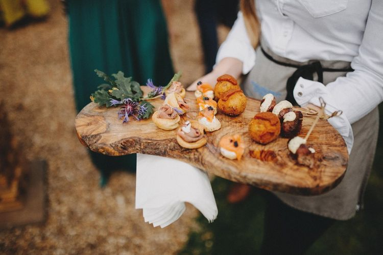 Wedding Canapes / Image By Ali Paul Photography