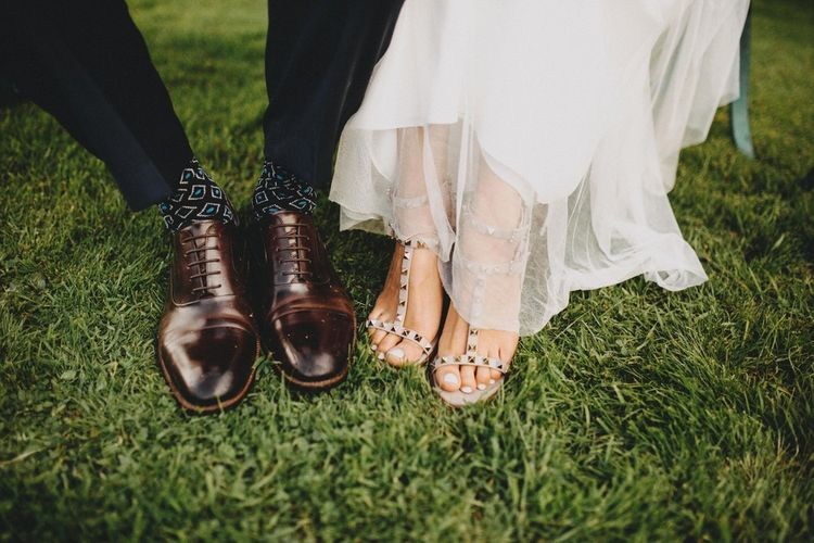 Valentino Rockstud Wedding Shoes / Image By Ali Paul Photography