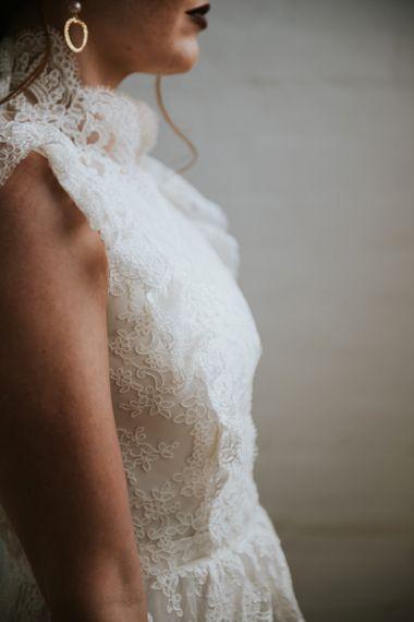 Lace sleeveless KAYA KATYA wedding dress