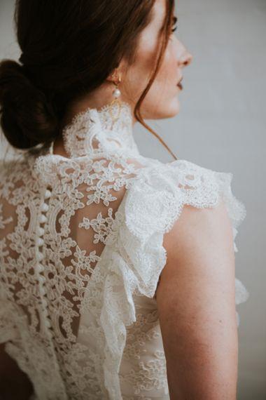 vintage lace KATYA KATYA sleeveless wedding dress