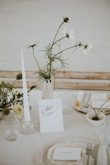 wedding stationery table number sign