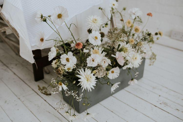 floral arrangement with delicate flower