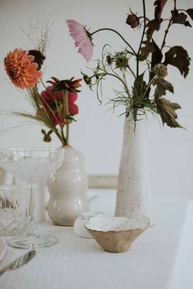 ceramic wedding table decor