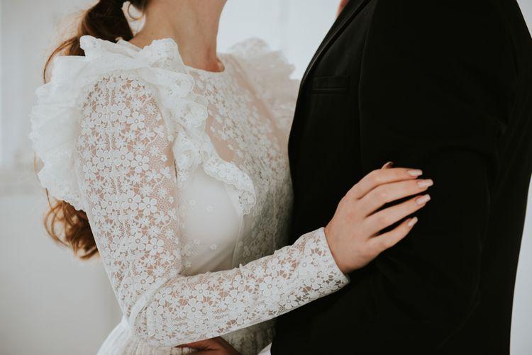 Lace KATYA KATYA wedding dress for minimalism wedding