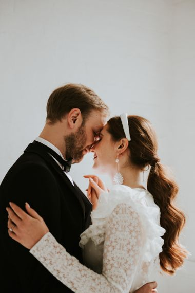 Intimate wedding portrait by Rosie Kelly Photography
