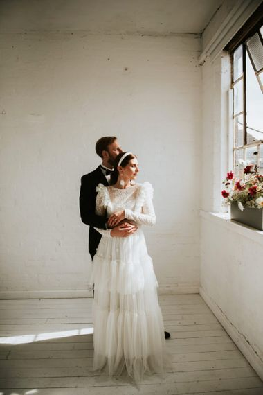 tiered wedding dress by KATYA KATYA for minimalism wedding dress