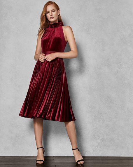Cornela Oxblood Velvet Pleated Dress From Ted Baker For Bridesmaids
