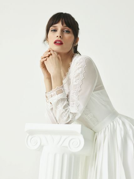 Long Sleeve Wedding Dress from the new Ted Baker SS19 Tie the Knot collection.