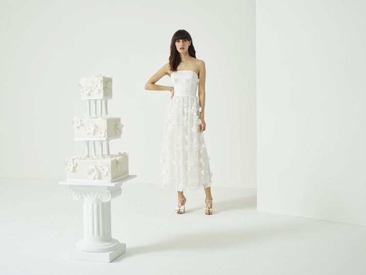 Strapless Applique Wedding Dress from the new Ted Baker SS19 Tie the Knot collection.