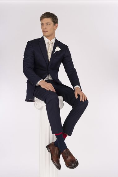 Black Grooms Suit from the new Ted Baker SS19 Tie the Knot collection.
