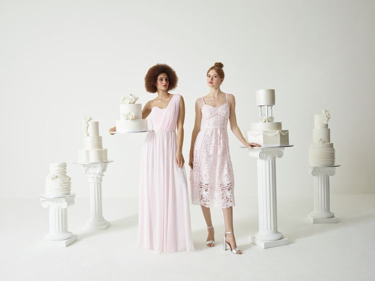 Pink Bridesmaid Dresses from the new Ted Baker SS19 Tie the Knot collection.
