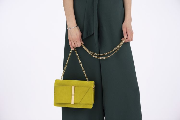 Ochre Yellow Bag from the new Ted Baker SS19 Tie the Knot collection.