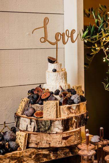 Cheese Tower For Wedding // Teepee Tent Wedding With Romantic Meadow Inspired Styling // PapaKata Spring Open Day // Images By Dominic Wright // Styling By Natalie Hewitt
