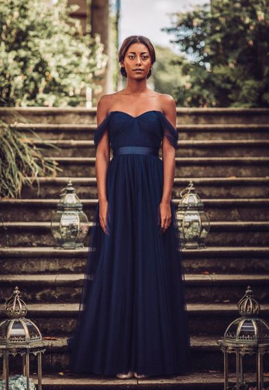 Bardot Dress In Navy From TH&TH / Image By Tom Dymond